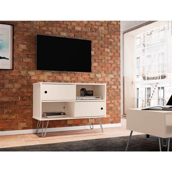 Manhattan Comfort Baxter TV Stand - 35.43-in - Off-White