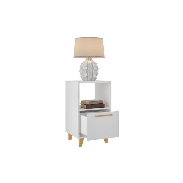 Manhattan Comfort Herald Nightstand - 22.24-in - White