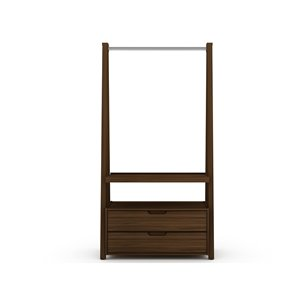 Manhattan Comfort Rockefeller Open Wardrobe Armoire - 38.62-in x 71.42-in - Brown