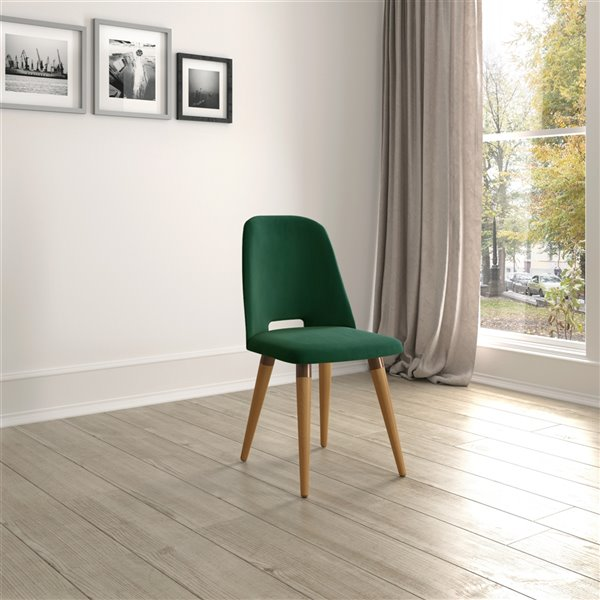 Manhattan Comfort Selina Dining Accent Chair - Green Mint
