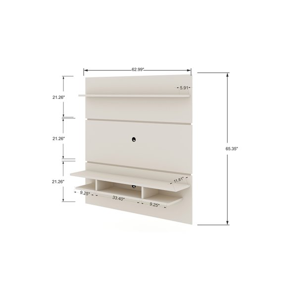 Manhattan Comfort Tribeca Floating Entertainment Center - 62.99-in - Off-White