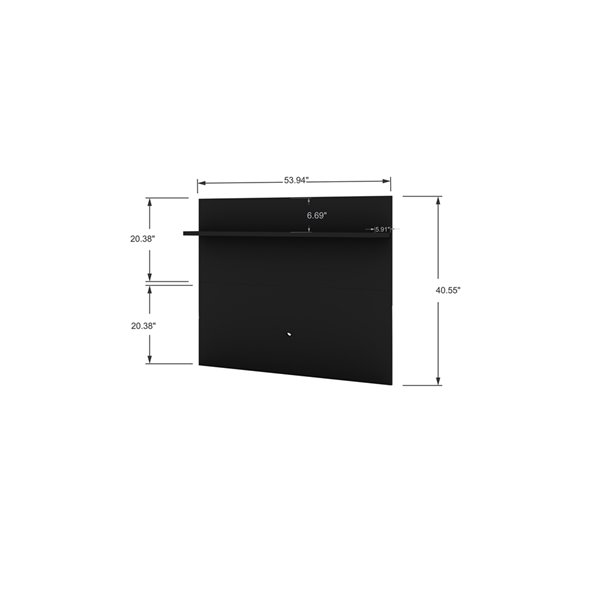 Manhattan Comfort Tribeca TV Panel - 53.94-in - Black