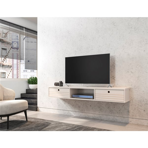 Manhattan Comfort Liberty Floating Entertainment Center - 62.99-in - Off-White