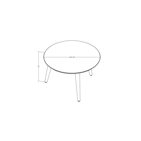 Manhattan Comfort Moore Coffee Table - 23.62-in x 14.96-in - Off-White