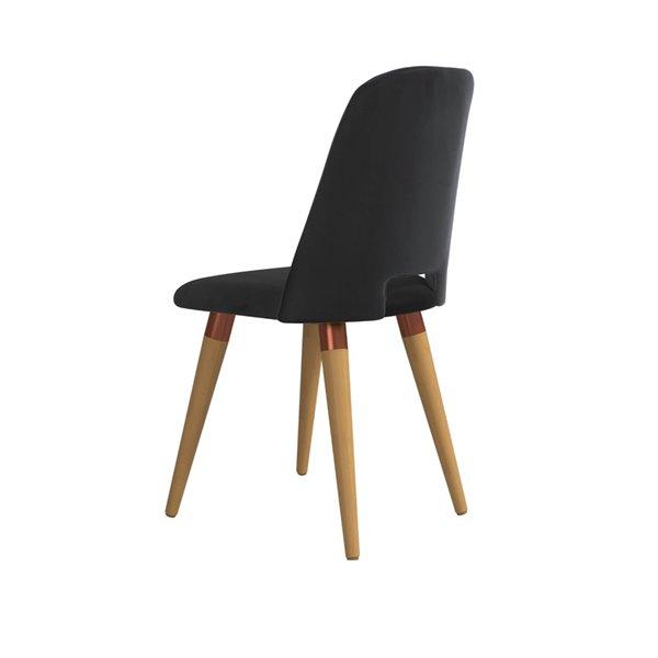 Manhattan Comfort Selina Dining Accent Chair - Black
