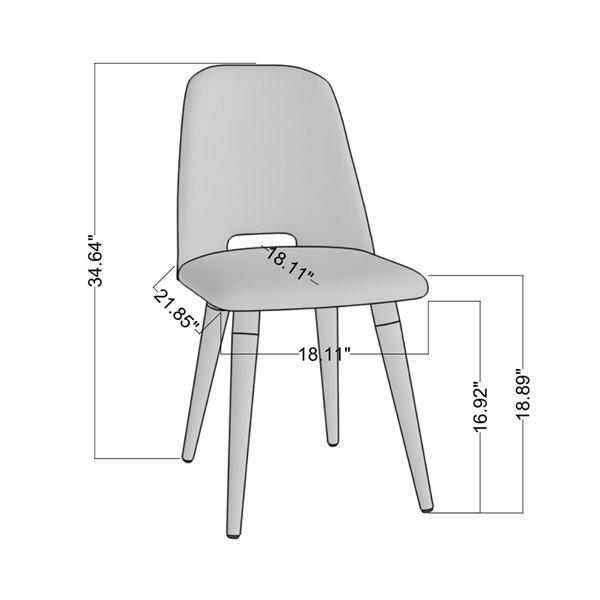 Manhattan Comfort Selina Dining Accent Chair - Blue