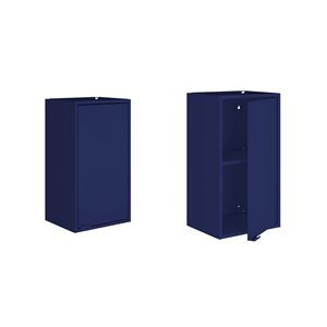 Manhattan Comfort Smart Floating Storage Cabinet - Blue - 2-Piece