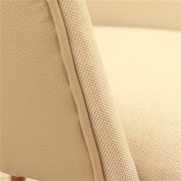 Manhattan Comfort Martha Dining Accent Chair - Beige