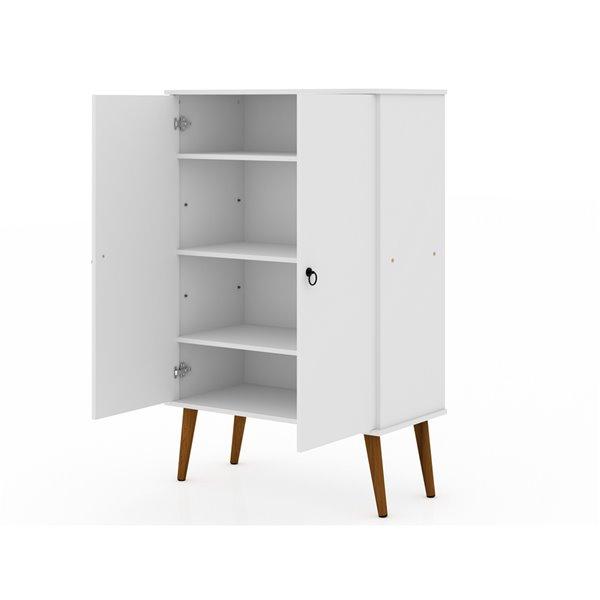 Manhattan Comfort Tribeca Accent Cabinet - 35.43-in x 50-in - White