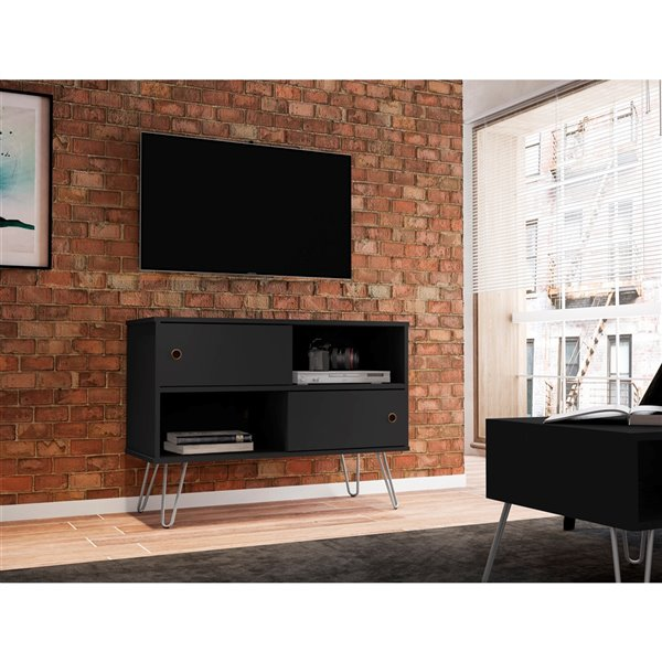 Manhattan Comfort Baxter TV Stand - 35.43-in - Black