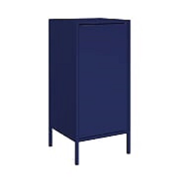 Manhattan Comfort Smart Square End Table - 13.77-in x 29.92-in - Blue