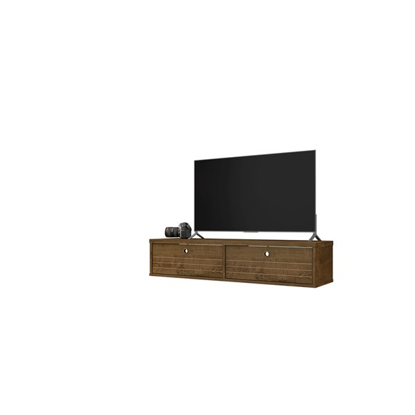 Manhattan Comfort Liberty Floating Entertainment Center - 42.28-in - Rustic Brown