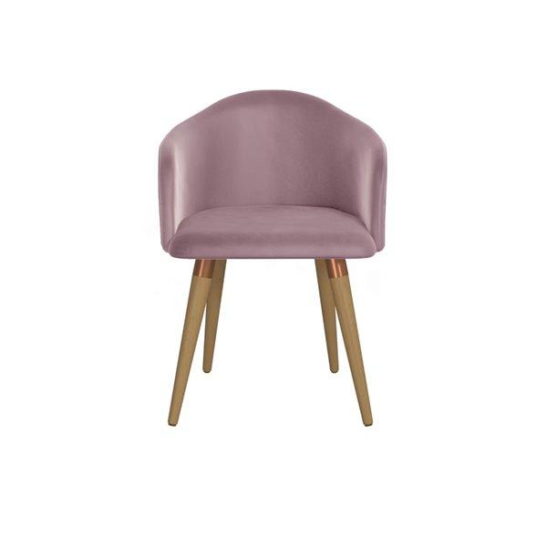 Manhattan Comfort Kari Dining Accent Chair - Pink - Set of 2