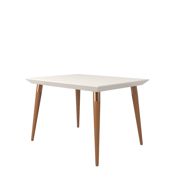 Manhattan Comfort Utopia Dining Table - 47.24-in x 35.43-in - Off-White
