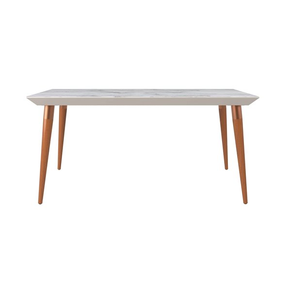 Manhattan Comfort Utopia Dining Table - 62.99-in x 35.43-in - Off-White