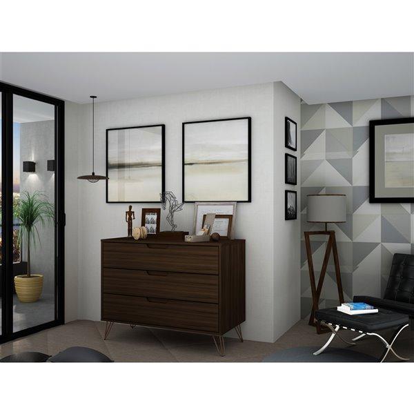 Manhattan Comfort Rockefeller Dresser - 35.24-in x 28.86-in - Brown