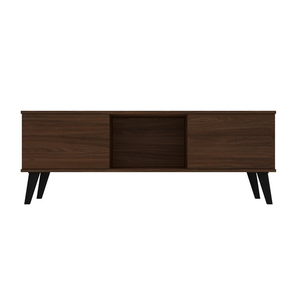 Manhattan Comfort Doyers TV Stand - 53.15-in - Nut Brown