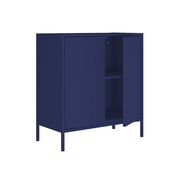 Manhattan Comfort Smart Office Cabinet 27.55-in x 29.92-in - Blue