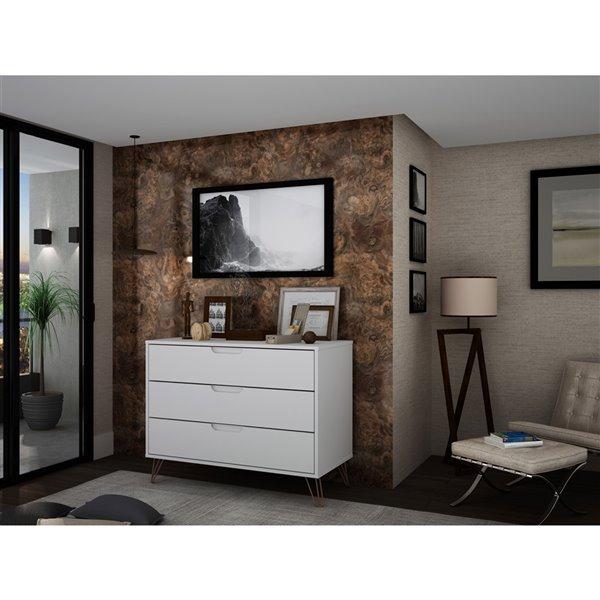 Manhattan Comfort Rockefeller Dresser - 35.24-in x 28.86-in - White