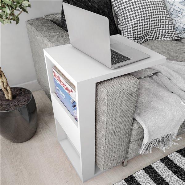 Manhattan Comfort Accent Table Set - Matte White - Set of 2