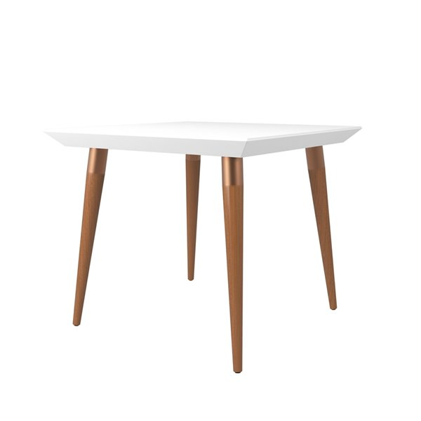 Manhattan Comfort Utopia Square Dining Table - 35.43-in - Glossy White