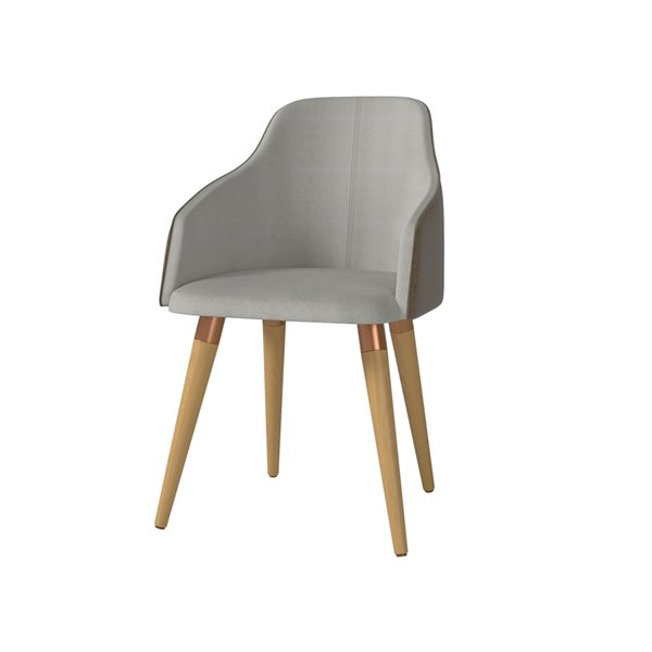 Manhattan Comfort Martha Dining Accent Chair - Grey - Set of 2