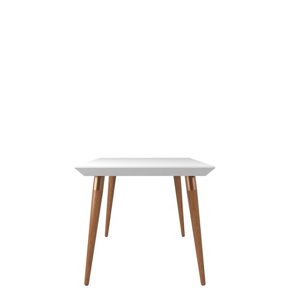 Manhattan Comfort Utopia Dining Table - 62.99-in x 35.43-in - Glossy White