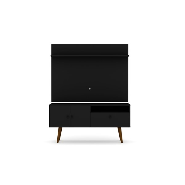 Manhattan Comfort Tribeca TV Stand and Panel - 53.94-in - Black