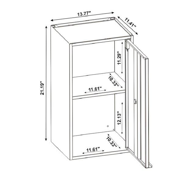 Manhattan Comfort Smart Floating Storage Cabinet - Black and Grey - 2-Piece