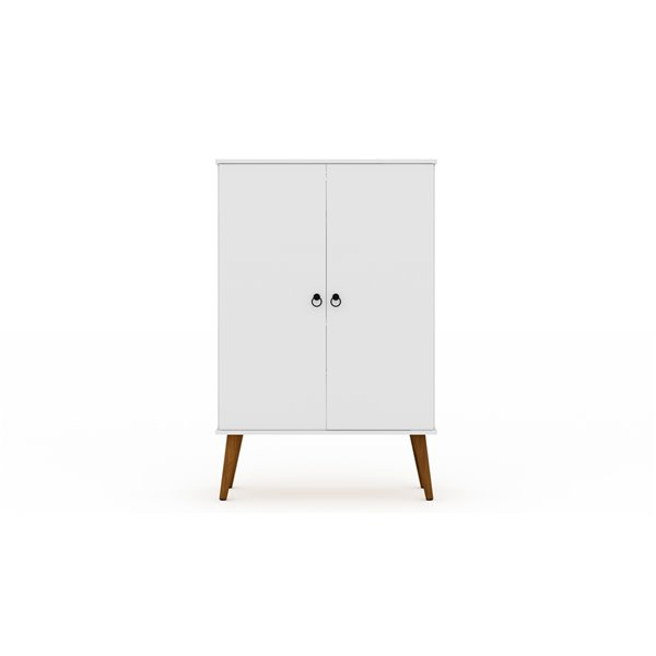 Manhattan Comfort Tribeca Shoe Cabinet - 35.43-in x 50-in - White