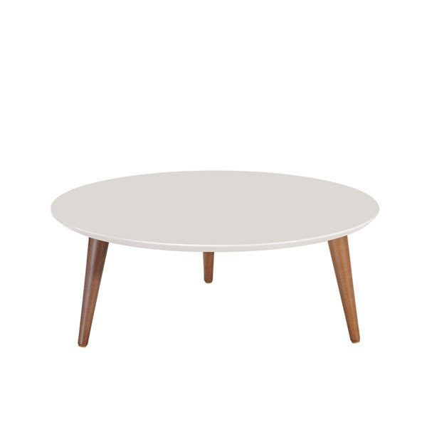 Manhattan Comfort Moore Coffee Table - 31.49-in x 11.81-in - Off-White