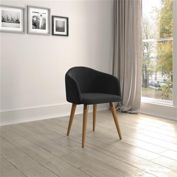Manhattan Comfort Kari Dining Accent Chair - Black