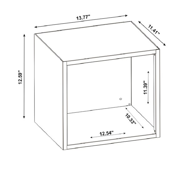 Manhattan Comfort Smart Floating Cabinet and Display Shelf - 13.77-in - Black/Grey - 4-Piece