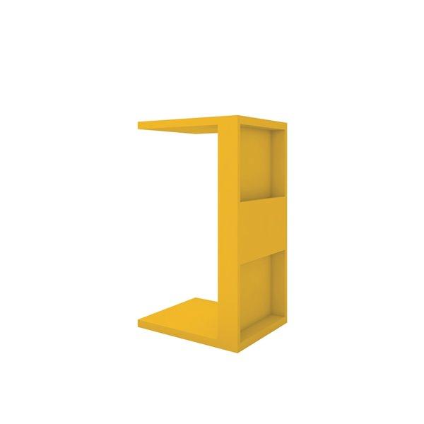 Manhattan Comfort Marine Rectangular End Table - 14.17-in x 26.77-in - Yellow