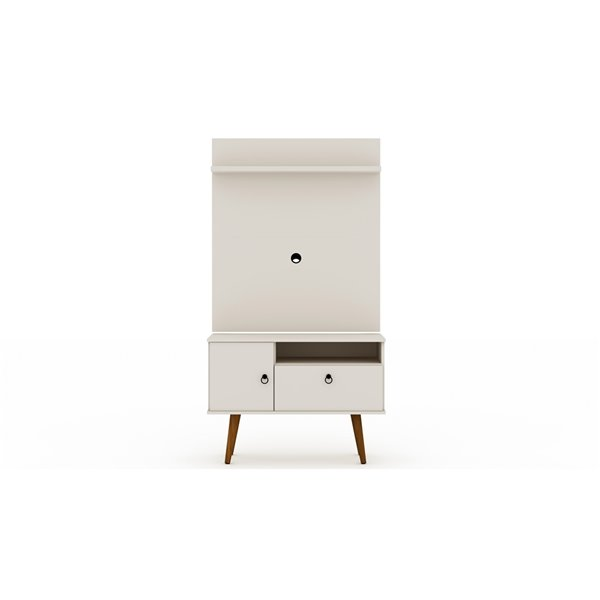 Manhattan Comfort Tribeca TV Stand and Panel - 35.43-in - Off-White