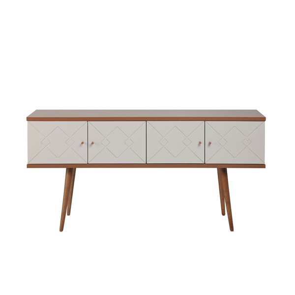 """Trinity 59.84"""" Sideboard in Off White and Maple Cream"""