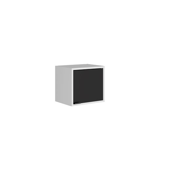 Manhattan Comfort Smart Floating Cube Cabinet - 13.77-in - White and Black