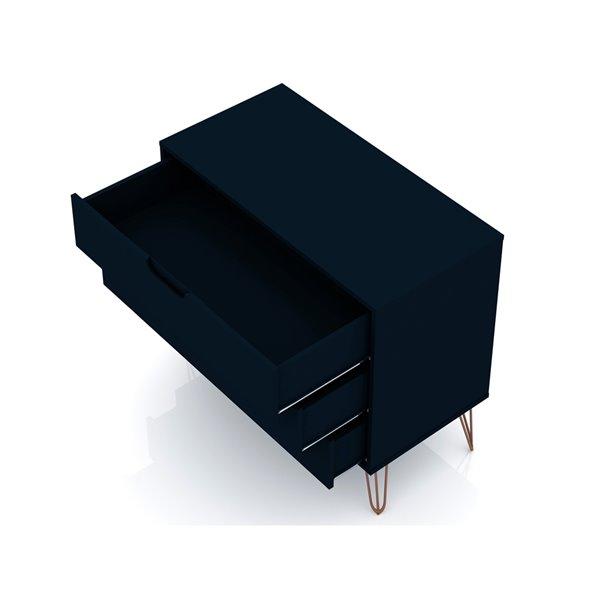 Manhattan Comfort Rockefeller Dresser - 35.24-in x 28.86-in - Midnight Blue