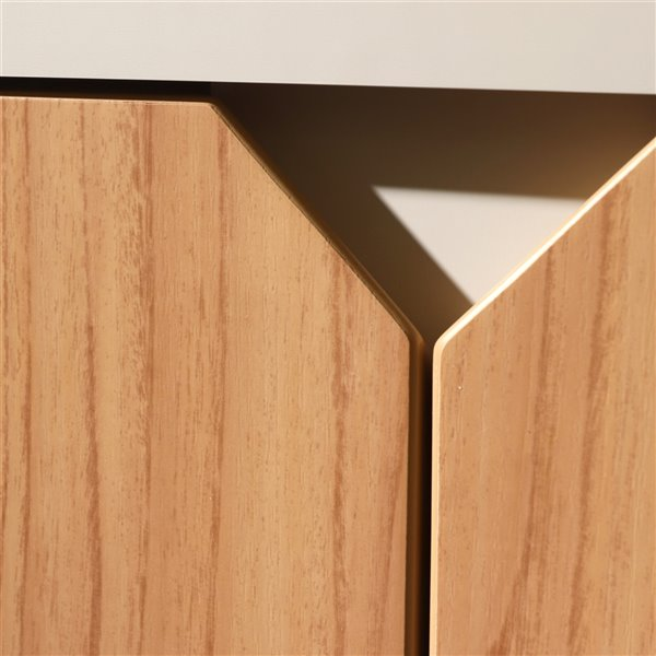 Knickerbocker 71.25 Sideboard in Cinnamon and Off White