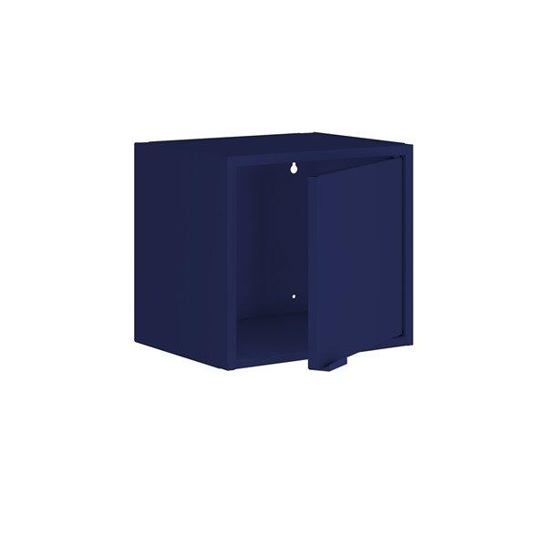 Manhattan Comfort Smart Floating Cabinet and Display Shelf - 13.77-in - Blue - 4-Piece