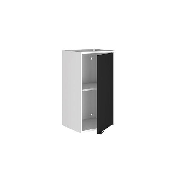 Manhattan Comfort Smart Floating Storage Cabinet - White and Black - 2-Piece