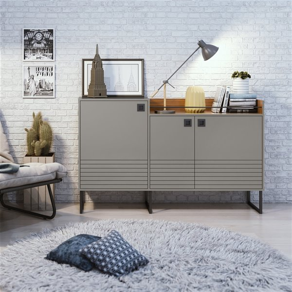Loft 62.59 Buffet Stand in Grey and Wood