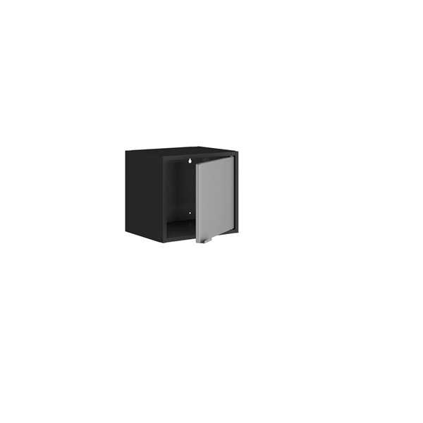 Manhattan Comfort Smart Floating Cube Cabinet - 13.77-in - Black and Grey