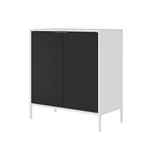 Manhattan Comfort Smart Office Cabinet 27.55-in x 29.92-in - White and Black
