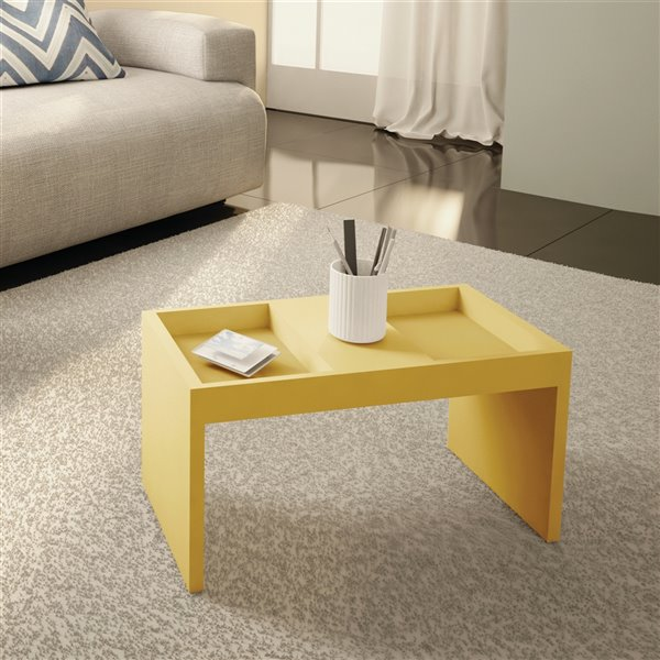 Manhattan Comfort Marine Coffee Table - 26.77-in x 14.17-in - Yellow