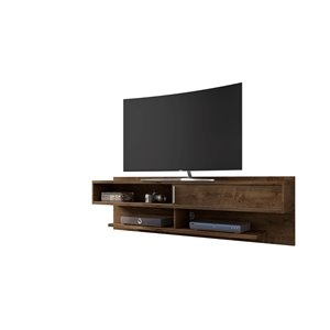 Manhattan Comfort Astor Floating Entertainment Center - 70.86-in - Rustic Brown