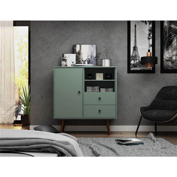 Manhattan Comfort Tribeca Dresser - 40.75-in x 43.7-in - Green Mint