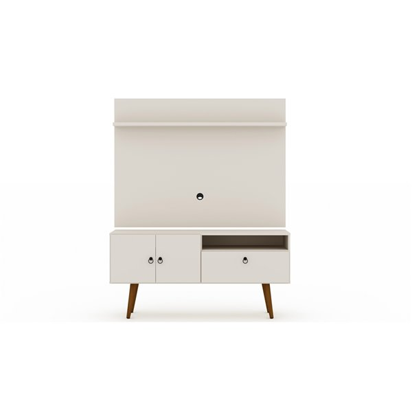 Manhattan Comfort Tribeca TV Stand and Panel - 53.94-in - Off-White