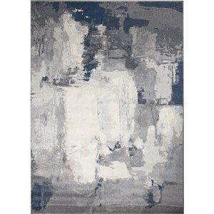 Tapis décoratif Baruch de Notre Dame Design, 7.25 pi x 5 pi, gris