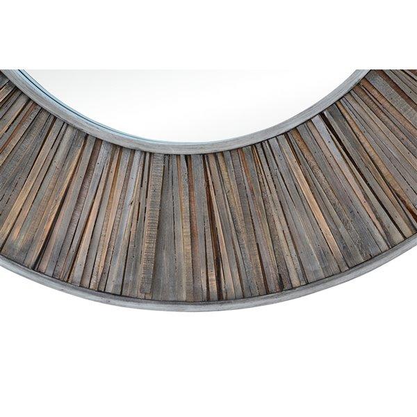 Notre Dame Design Mack Decorative Mirror - 45-in x 45-in - Dark Grey